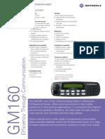 GM160 Spec Sheet