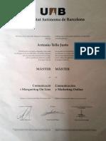 Antonio Tello Justo Master en Comunicación y Marketing Digital UAB