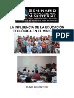 La Influencia de La Educación Teológica en El Ministerio