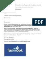 Tips Untuk Mengaburkan Fokus Pembaca Status FB Agar Mereka Suka Rela Share Status Anda