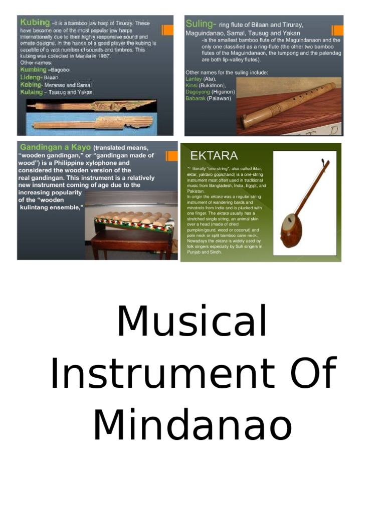 musical instrument of mindanao