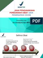 GP Farmasi_PMMC_Kebijakan Pengawasan Peredaran Obat Dan Penerapan CDOB_Arustiyono