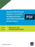 ADB- Making Renewable Energy a Success in Bangladesh - Dec 2015