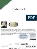 Possible Fonts