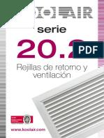 Serie_20_2_es Catalogo de Rejillas de Retorno