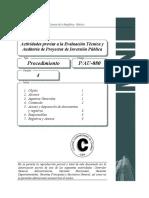 P-080-AU-4 (Actividades Previas a La Evaluación Técnica y Auditoria a PIP)