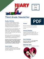 third grade newsletter february