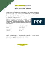 Certificado Obra Concluida Municipal Julian Jara