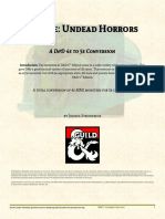 4e to 5e Undead Horrors