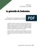 Le Genocide de Srebrenica