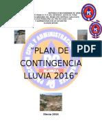 Plan de Contengencia Lluvia 2016