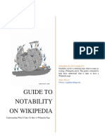 Guide to Wikipedia Notability