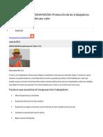 Hoja Informativa de OSHA