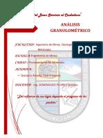 INF.N°01 ANÁLISIS GRANULOMÉTRICO PROCE