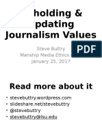 Updating Journalism Ethics