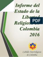 Informe Del Estado de La Libertad Religiosa en Colombia 2016