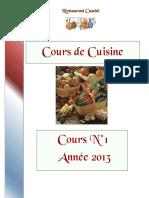 Cours de Cuisine n°1-2013