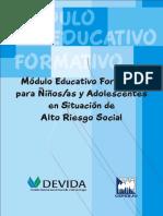 93308640 Modulo Educativo Formativo Para Ninos y Adolescentes en Situacion de Alto Riesgo Social