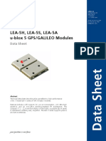 Lea 5x Data Sheet(Gps.g5 Ms5 07026)