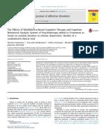 The EffectsofMindfulness‐Based CognitiveTherapyandCognitive BehavioralAnalysisSystemofPsychotherapyaddedtoTreatmentas Usual onsuicidalideationinchronicdepression