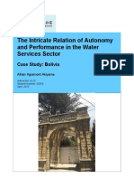 The intricate relation of autonomy and performance in the water sector