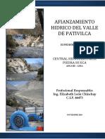 Afianzamiento Hidrico Valle Pativilca