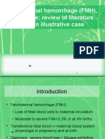 Fetomaternal Hemorrhage (FMH), An Update Review of Literature (1)