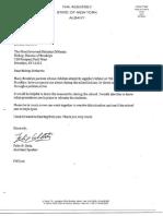 Ortiz - Letter on St. Agatha School