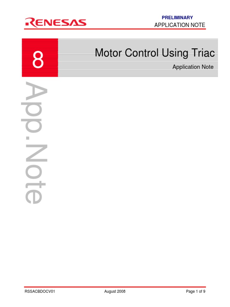 Triac Application Note Field Effect Transistor Power Supply Transformerless Fet