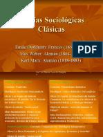 Teorías sociológicas cl'asicas