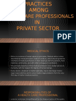 3a) Ethical Practices Among Doctors in Private Sector