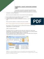 Access 2007 - Crear Menús Personalizados y Menús Contextuales Mediante Macros