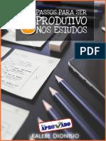 5 Passos Para Ser Produtivo Nos Estudos