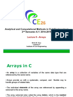 Lecture 5 - Arrays