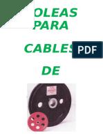 Mec 292 Apunte de Poleas Para Cable de Acero