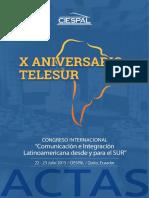 CIESPAL. I Congreso Comunicación Sur - TELESUR - Libro de Actas .pdf