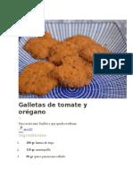Galletas de Tomate y Orégano