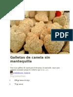 Galletas de Canela Sin Mantequilla