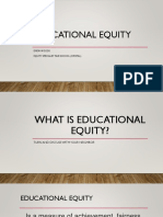 educational equity for students of color