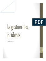 La Gestion Des Incidents Cours