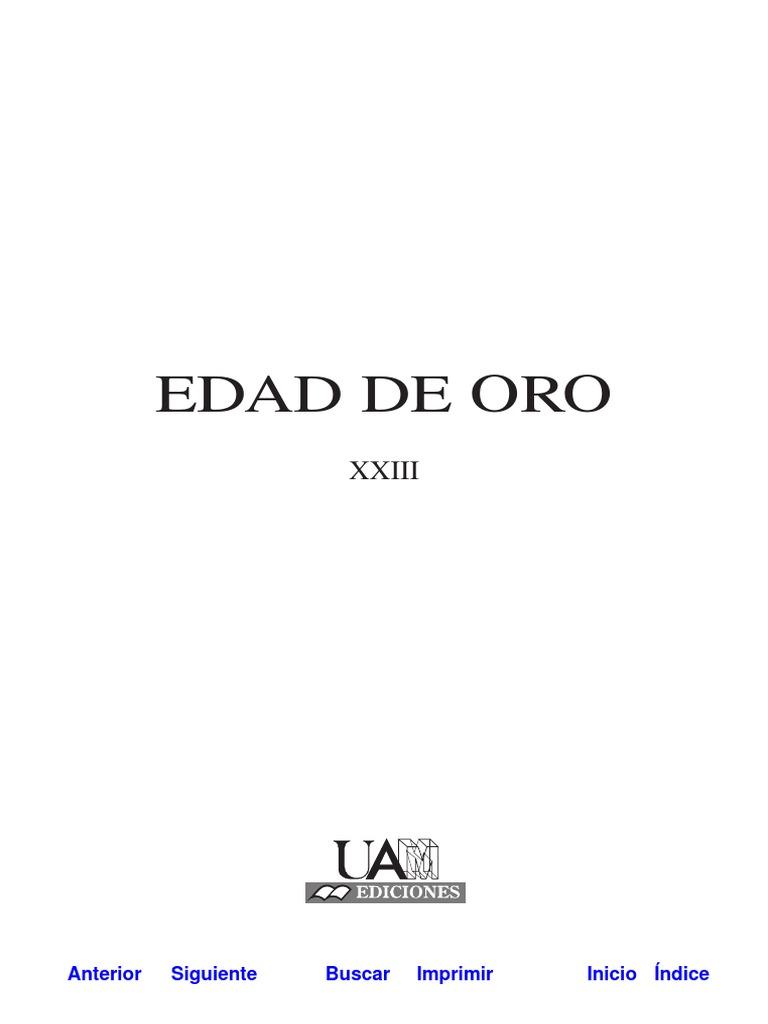 Edad de Oro (Hagiografía y Cervantes)
