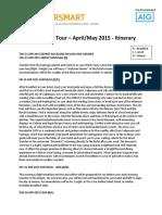 South America Tour Itinerario Bocanariz