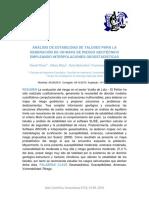 ANÁLISIS DE ESTABILIDAD DE TALUDES PARA LA GENERACIÓN DE UN MAPA DE RIESGO GEOTÉCNICO EMPLEANDO INTERPOLACIONES GEOESTADÍSTICAS