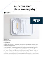 Calorie restriction diet extends life of monkeys by years | New Scientist
