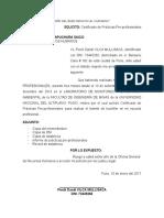 SOLICITO Certificado de Practicas