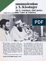 Rabbi Marvin S. Antelman - The Excommunication of Henry Kissinger