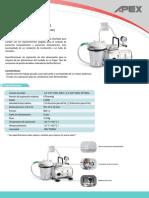 Ficha Tecnica Aspirador Apex Vc-701