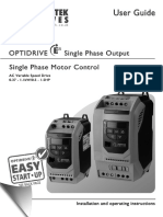 Invertek Optidrive E2 Single Phase