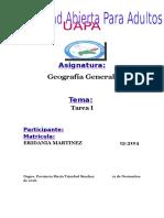 Tarea i Geografia General Eridania Martinez