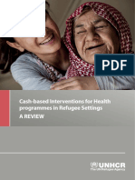 Review of CBIs for Health Programmes in Refugee Settings